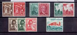 TP - ALLEMAGNE De 1935 - N° 557 - 558 - 562 - 563 - 580 - 581 - 591 - 592 - 593 - 672 Neufs XX - Allemagne