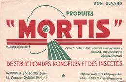 Ancien BUVARD Illustré MORTIS à MONTREUIL SOUS BOIS - Animaux