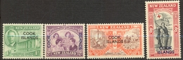 Iles Cook - 1946 - Yt 72/75 - Anniversaire De La Paix - ** - Cook