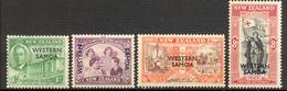 Western Samoa - 1946 - Yt 144/147 - Anniversaire De La Paix - * - Samoa