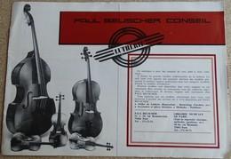 Paul Beuscher Conseil - Lutherie - Paris - Violons - Mandolines - Luths - Mandoles - Folkloriques - Partitions Musicales Anciennes