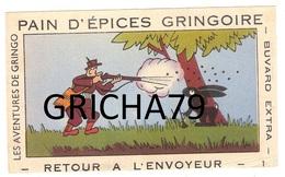 BUVARD - PAIN D EPICES GRINGOIRE - LES AVENTURES DE GRINGO - RETOUR A L ENVOYEUR - Pain D'épices