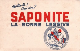 Ancien BUVARD Illustré SAPONITE Lessive - L