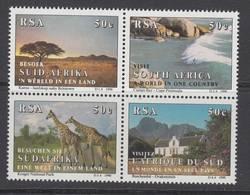 D101225 South Africa 1990 SURFING GIRAFFE Tourism MNH Block - Afrique Du Sud Afrika RSA - Afrique Du Sud (1961-...)