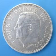 "Monaco, Louis II, 5 Francs, 1945, SUP+, ""Lourde"" - Mónaco"