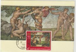 Carte-Maximum TOGO N° Yvert 577 (MICHEL ANGE) Obl Sp Philatélie - Togo (1960-...)