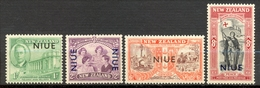 Niue - 1946 - Yt 76/79 - Anniversaire De La Paix - ** - Niue