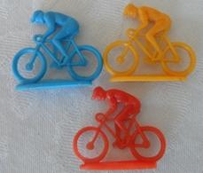 Lot 3 Ancien Petit Cycliste Plastique - Unclassified