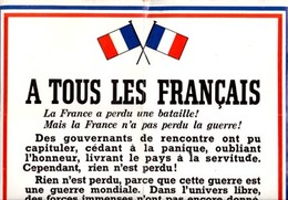 ** AFFICHE  GENERAL  DE  GAULLE ** - 1939-45