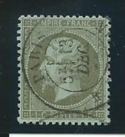 FRANCE: Obl., N° YT 19, Olive, Bien Centré, TB - 1862 Napoleon III