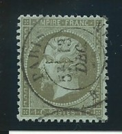 FRANCE: Obl., N° YT 19, Olive, Bien Centré, TB - 1862 Napoléon III