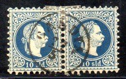 XP4579 - LEVANTE AUSTRIA 1867, Unificato  N. 4 Coppia Usata  (2380A) . - Levant Autrichien