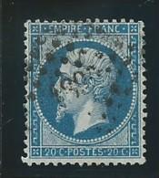 FRANCE: Obl., N° YT 22a, Bleu Foncé, TB - 1862 Napoleon III