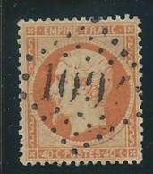 FRANCE: Obl., N° YT 23, Orange, Bien Centré, TB - 1862 Napoleon III