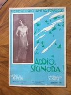 """GRAFICA EDITORIALE 1923  SPARTITO MUSICALE """" Addio Signora ! """" Di Neri-Simi REP.ANNA FOUGEZ     ED. LA CANZONETTA NAPOLI - Volksmusik"""