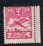 1924 Juni Danzig Flugpost Mi DA 203 Sn DA C27 Yt DA PA21 AFA DA 213 Pol DA 197 Xx Geprüft Gruber BPP - Danzig