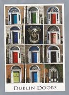 IE.- DUBLIN DOORS. Greetings From Ireland.. Ongelopen. - Postkaarten