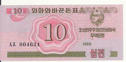 COREE DU NORD 10 CHON 1988 UNC P 33 - Corée Du Nord