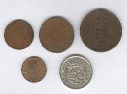 Lot De 5 Monnaies Indes Portuguaises - India Portugeza - Estado Do India - Colonie Portugaise - Portogallo