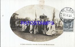 109380 AFRICA ERITREA COLONY ITALIANA THE CLERO ABISSINO WAITS FOR THE GOVERNOR'S ARRIVAL SPOTTED POSTAL POSTCARD - Eritrea