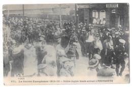 CPA.     PORTSMOUTH..SOLDATS ANGLAIS BLESSES ARRIVANT A LA GARE..  BE..1916... - Portsmouth