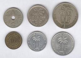 Lot De 6 Monnaies Congo Belge - Colonie Belge - Belgique