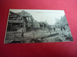 3/58 Albert La Rue Carnot Carnot Street Animée Ruines Soldats Militaires  WWI Vierge - Albert