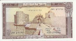 LIBAN 25 LIVRES 1983 UNC P 64 - Libano