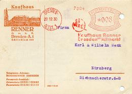 (Lo3196) Werbekarte DR St. AFS Dresden N. Nürnberg - Germany