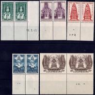 1945 Série La Vierge Marie, Patronne Du Luxembourg, Paires Neuf, Michel 2019: 382-386  Val.Catalogue: 8€ - Luxembourg