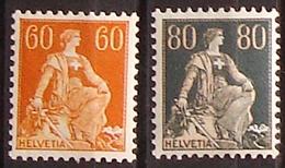 Schweiz Suisse Helvetia Mit Schwert 1933: Zu 140-141z Mi 140x-141z Yv 165-166 * Mit Falz MLH (Zumstein CHF 85.00 -50%) - Ungebraucht
