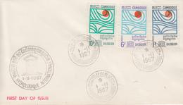 Enveloppe  FDC   1er  Jour    CAMBODGE  Décennie  Hydrologique  Internationale   1967 - Cambodge
