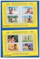 Romania - 1989 - Usato/used - Intereuropeana - Mi Block 254/255 - 1948-.... Républiques