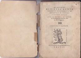 RARISIME. PIETRO MESSIA: TRADOTTI NUOVAMENTE DI SPAGNUOLO IN VOLGARE. DA ALFONSO D'ULLOA-AÑO 1957 130 PAG - BLEUP - Livres Anciens