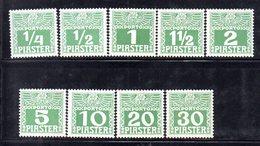 XP4592 - LEVANTE AUSTRIA 1908, Segnatasse Serie Unificato N. 6A/14A Nuova Linguellata  * (2380A) . Il 30 Pi.integro - Oriente Austriaco