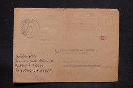 ALLEMAGNE - Affranchissement Mécanique De Biberach/ Riss Sur Enveloppe Commerciale Pour Nice , Contrôle Postal - L 25832 - Allemagne