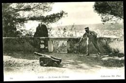 NICE - 560 : Le Canon Du Château - (Beau Plan Animé) - Monuments