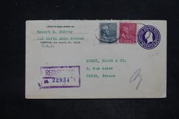 ETATS UNIS - Entier Postal + Complément De Los Angelés En Recommandé Pour La France En 1939 - L 25834 - 1921-40