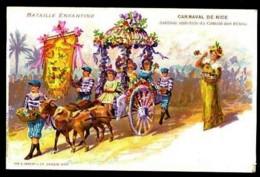 CARNAVAL De NICE - Bataille Enfantine - (Belle Illustration) - CP Précurseur, Vers 1900. - Carnaval