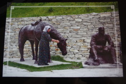 Russia. Chechnya.  Chechen Republic  - Modern Postcard - Abrek Monument - Tchétchénie