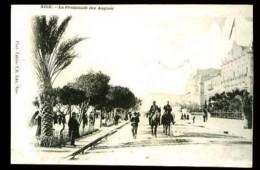 NICE - La Promenade Des Anglais - (Beau Plan Animé Avec Gendarmes à Cheval) - CP Précurseur, Vers 1900. - Nice