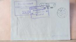DDR: ZKD-Brief Pirna-Rottwerndorf PSSt. (1) Pirna, VEB Kittwerk ZKD-KSt. Vom 28.10.68 - DDR