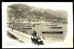 L' Escadre De La Méditerranée Au Mouillage (Rade De VILLEFRANCHE) - 571 - (Beau Plan Animé Avec Navires Et Calèche) - Villefranche-sur-Mer