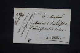 FRANCE - Lettre Pour Sarténe En 1852 , Cursive à Déchiffrer , Pour Spécialiste - L 25836 - 1849-1876: Période Classique