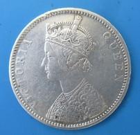 One Rupee India, Victoria, 1875, Type A, Revers II, TTB+ - Colonie