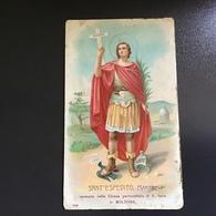 """Antico Santino - Holy Card """" S. ESPEDITO MARTIRE """" Ed.Natale Salvardi Bologna - Religione & Esoterismo"""
