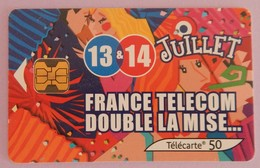 "TELECARTE 06/2002 SANS UNITE ""13 ET 14 JUILLET "" - Frankrijk"