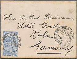 "Beleg 1894, 2x 1 Pia. A. Kl. Brief (leicht Randfleckig) Mit Selt. Stempel ""Cook's Touristservice"" Von Cairo N. Köln (Mic - Égypte"