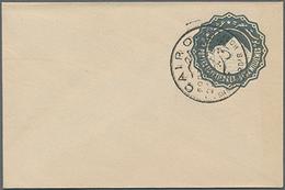 Beleg 18??, 2 Mill. Grau GA-Umschlag Blanko-gestempelt Cairo, Im Ascher Unbekannt (Michel: U) - Égypte