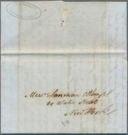 Beleg 1861, Pra.-Faltbrief Aus Baranquilla Mit Doppeloval-St. Mathiel/Carthagena Nach New York - Colombie